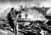 Баі на вуліцах Полацка. 1944 г. Фатаграфія з сайта https://news.tut.by