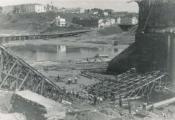 Мост праз Заходнюю Дзвіну ў Віцебску ў 1941 годзе. Фота з сайта https://vkurier.info