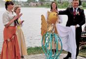 Скульптура «Залатая рыбка», г. Глыбокае. Фотаздымак з сайта http://vg-gazeta.by/