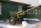 Мемарыяльны знак «Пушка» ў горадзе Лепель. Фотаздымак з сайта http://wwii.space