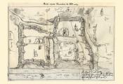 Архіўны дакумент «Чарцёж месца Віцебска 1664 года». Фота з сайта http://www.evitebsk.com